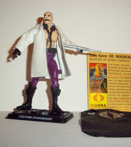 gi joe DR MINDBENDER 2009 v6 25th anniversary WITH BONUS LAB COAT