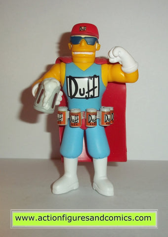 simpsons DUFFMAN duff beer man complete playmates toys world of springfield moe's tavern