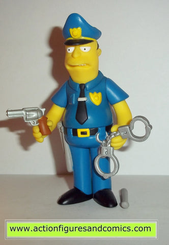 simpsons POLICE OFFICER EDDIE playmates complete