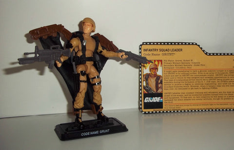 gi joe GRUNT 2013 v13 25th anniversary complete fan club exclusive tan