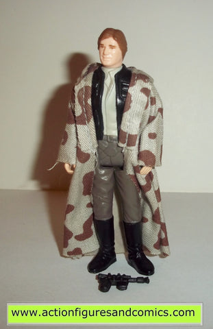 star wars action figures HAN SOLO TRENCH COAT 1984 kenner vintage 100% complete