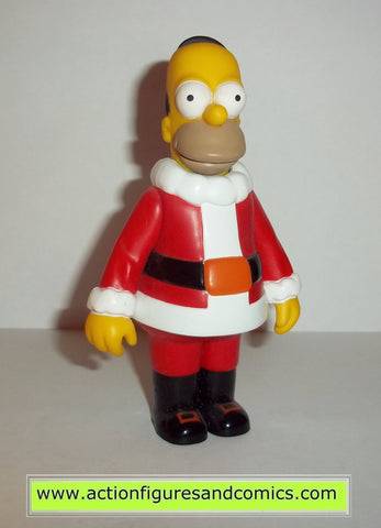 simpsons HOMER CHRISTMAS playmates toys complete action figures