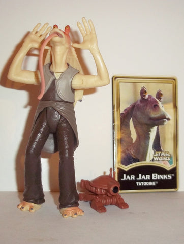 star wars action figures JAR JAR BINKS tatooine power of the jedi