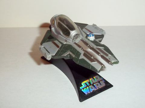 star wars titanium JEDI STARFIGHTER anakin skywalker's green complete