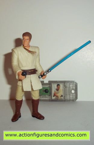 star wars action figures OBI WAN KENOBI jedi knight 1999 episode I 1 complete hasbro toys