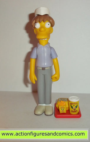 simpsons KRUSTY BURGER EMPLOYEE playmates pimply face teen kid