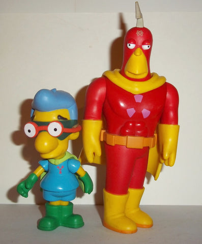 simpsons RADIOACTIVE MAN & RADIOACTIVE BOY milhouse playmates fig