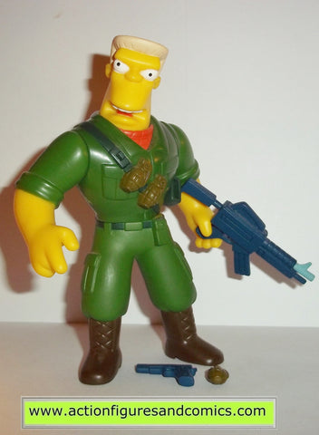 simpsons McBAIN RAINIER WOLFCASTLE playmates toys complete action figures