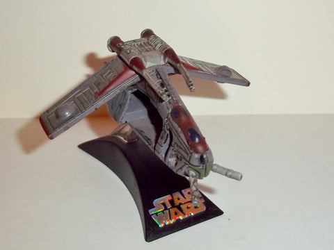 star wars titanium REPUBLIC GUNSHIP red grey complete