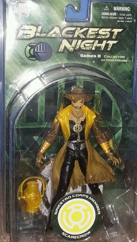 DC direct blackest night SCARECROW Yellow sinestro corps member series 8 new moc