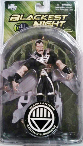 DC direct blackest night BLACK LANTERN EARTH 2 SUPERMAN new moc green lantern universe