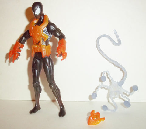 marvel universe FIRE ARMOR SPIDER-MAN black suit complete hasbro