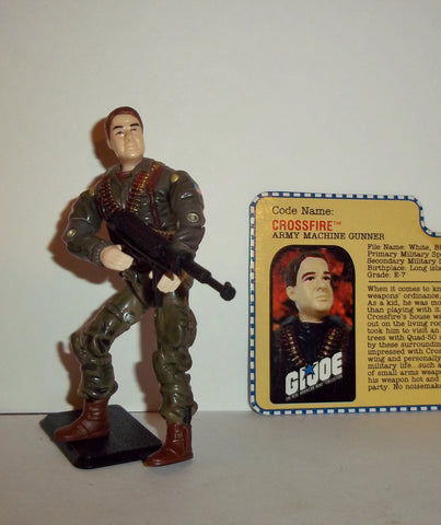 gi joe CROSSFIRE 2001 ARAH a real american hero Complete