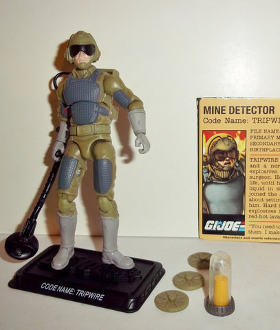 gi joe TRIPWIRE 2008 v5 25th anniversary with DESERT ELEMENT complete