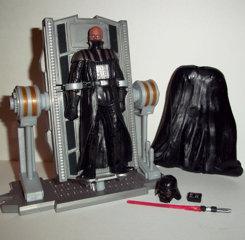 star wars action figures DARTH VADER rebuild deluxe revenge of the sith