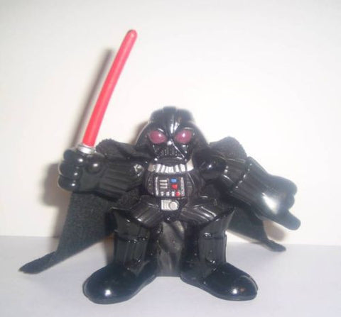 STAR WARS galactic heroes DARTH VADER pointing Silver chest hasbro pvc