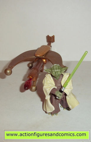 star wars action figures YODA #3 firing cannon revenge of the sith