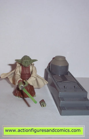 Star Wars Action Figures Yoda Spinning Attack 2005 Hasbro Toys Action Actionfiguresandcomics