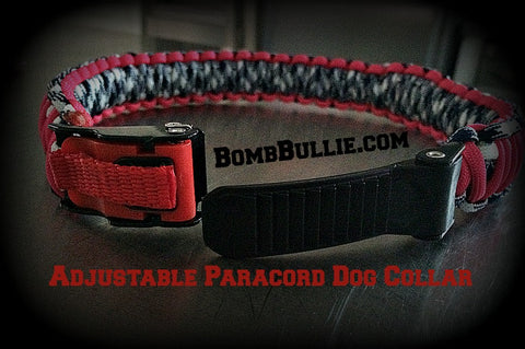 BombBullie.com Adjustable Paracord Dog Collar