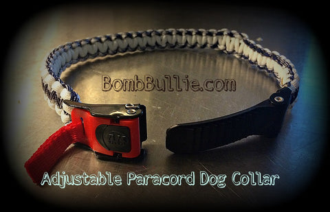 BombBullie.com Adjustable Cobra Paracord Dog Collar