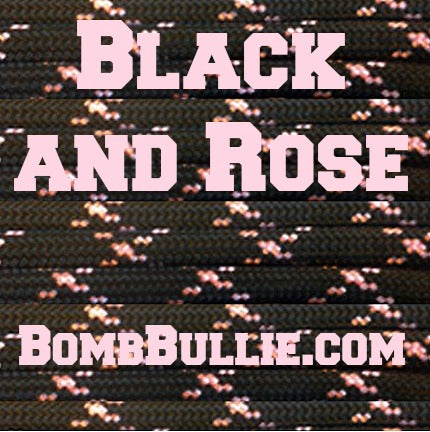 Black and Rose Paracord