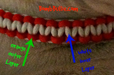 BombBullie Cobra Paracord Dog Collar Color Scheme Options