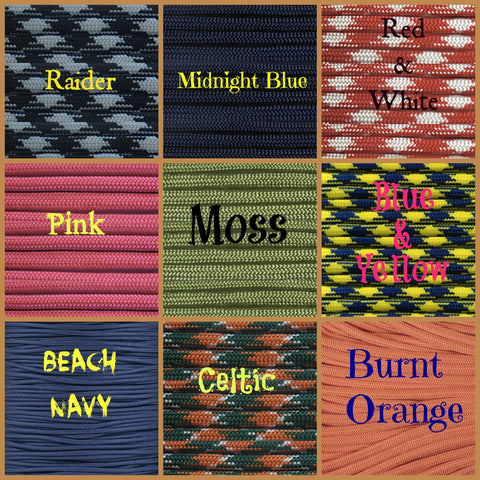 BombBullie Paracord Collar Color Swatch