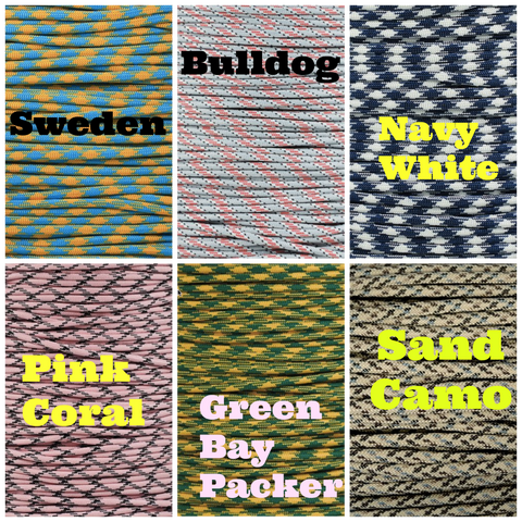 BombBullie Paracord Collar Color Swatch 2