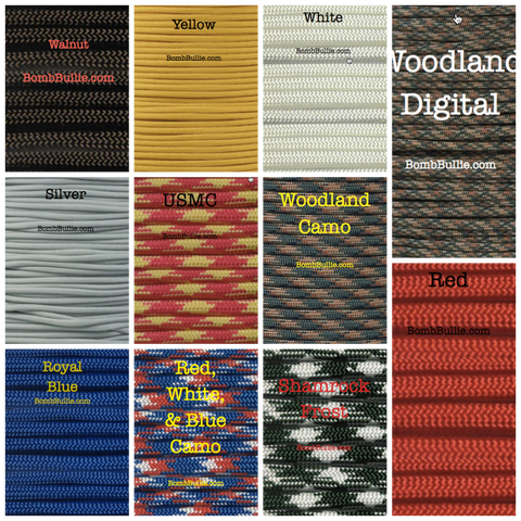 BombBullie Paracord Collar Color Swatch 3
