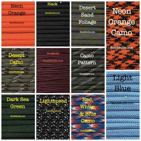 BombBullie Paracord Collar Color Swatch 4