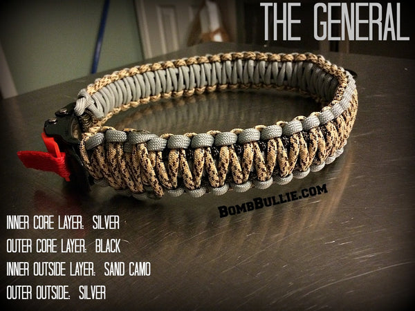 The General BombBullie Paracord Dog Collar