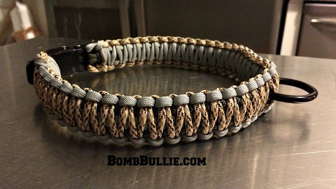BombBullie King Cobra Paracord Dog Collar