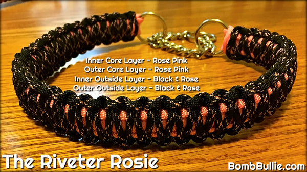 The Riveter Rosie Paracord Dog Collar