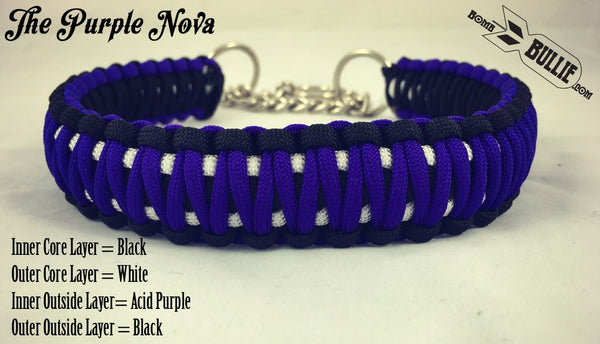 The Purple Nova - Paracord Dog Collar