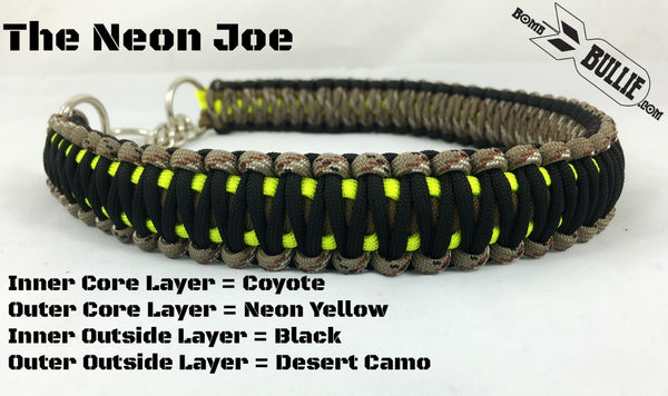 The Neon Joe - Paracord Dog Collar