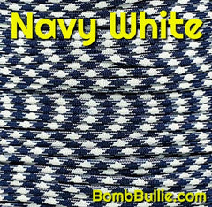 Navy White Paracord