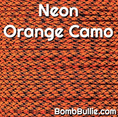 Neon Orange Camo Paracord