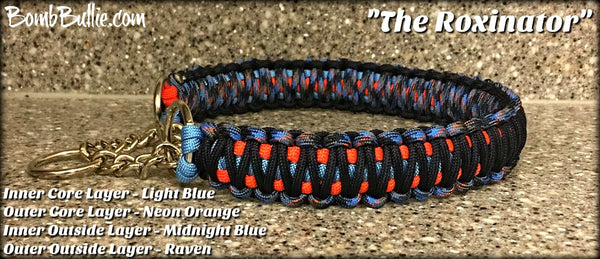 The Roxinator - BombBullie Paracord Dog Collar
