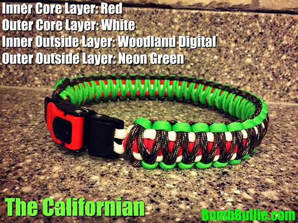 The California - Paracord Dog Collar