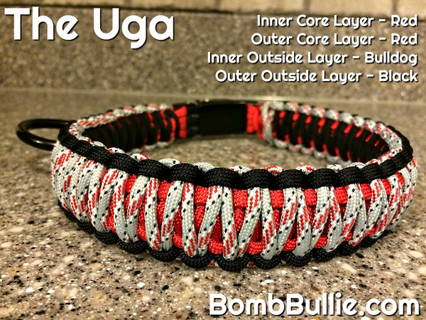 The Uga - Bulldogs Paracord Dog Collar