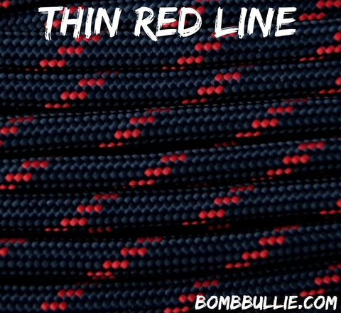 Thin Red Line Paracord for Dog Collars