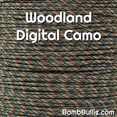 Woodland Digital Camo Paracord