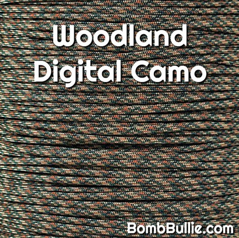 Woodland Digital Camo Paracord Dog Collar