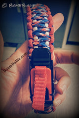 Paracord Adjustable Dog Collar - King Cobra Knot - BombBullie  - 6