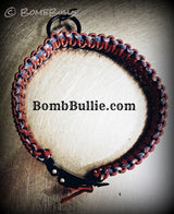 Paracord Adjustable Dog Collar - King Cobra Knot - BombBullie  - 11