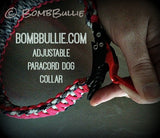 Paracord Adjustable Dog Collar - King Cobra Knot - BombBullie  - 10