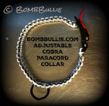 Paracord Adjustable Dog Collar - Cobra Knot - BombBullie  - 2
