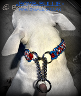 Paracord Martingale Dog Collar - King Cobra Knot - BombBullie  - 3