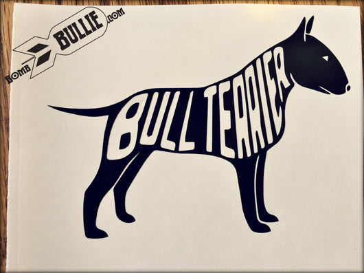 Bull Terrier Decal - White or Black - BombBullie  - 3
