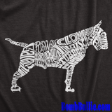 Bull Terrier Body of Words T-Shirt (White Logo) - BombBullie  - 3